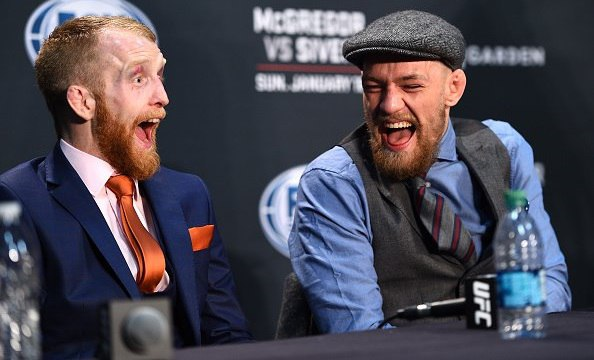 McGregor laughing